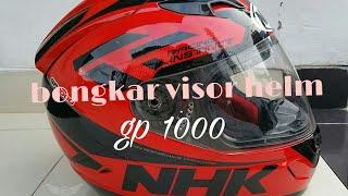 Cara melepas visor helm NHK GP1000 dengan mudah