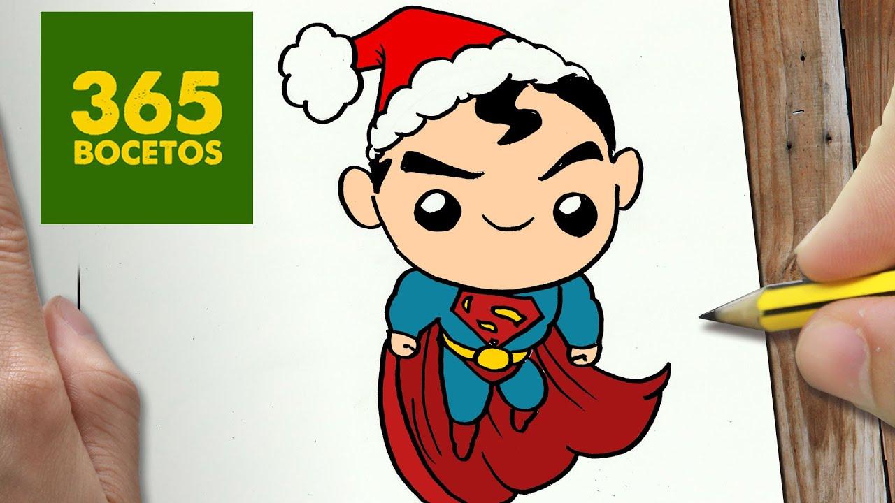 COMO DIBUJAR UN SUPERMAN PARA NAVIDAD PASO A PASO: Dibujos