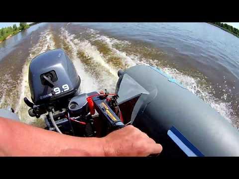 скорость  ямахи 9,9 4-такта+лодка пвх amazonia 350