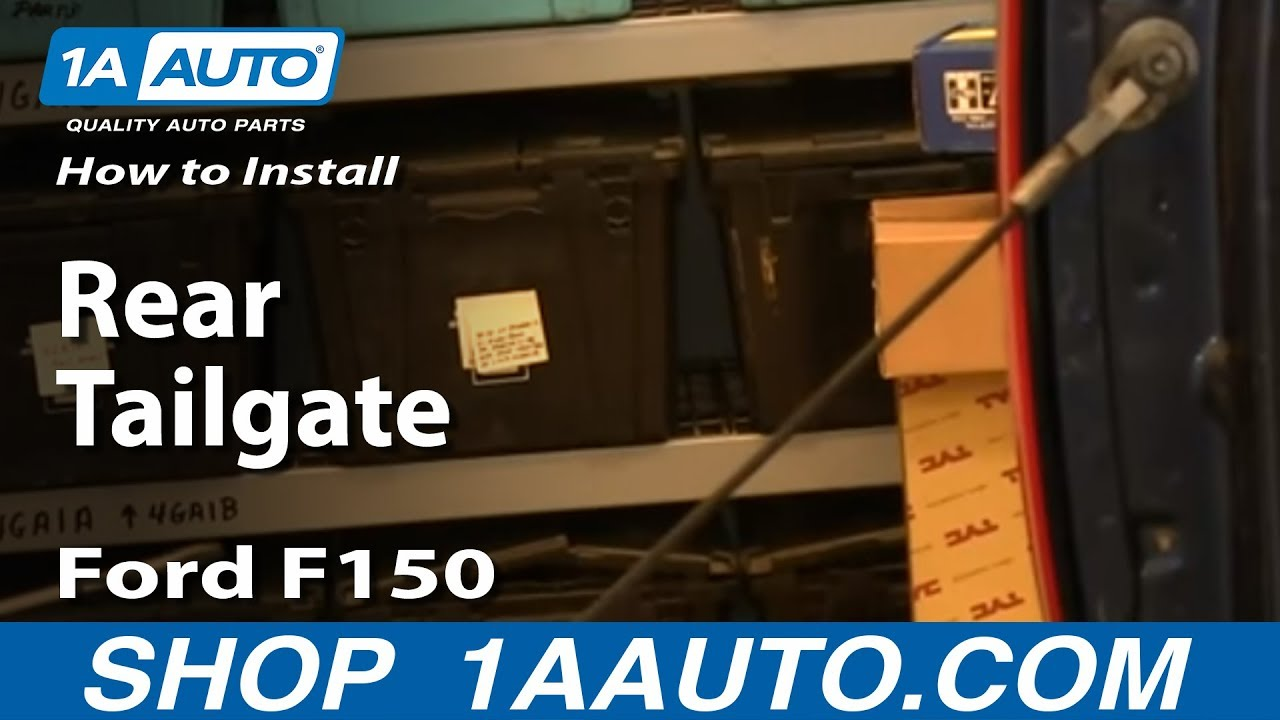How To Take Off And Install Rear Tailgate 04 13 Ford F150 Most Lift Gate Wiring Harness Diagram Trucks Youtube