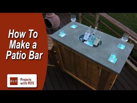 How to Make a Patio Bar – DIY Concrete Counter Bar with Wood Base