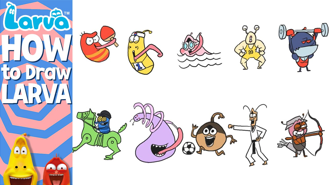 Uncategorized Videos How To Draw official how to draw larva sports version special videos by youtube