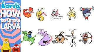 official how to draw larva - sports version - special videos by larva