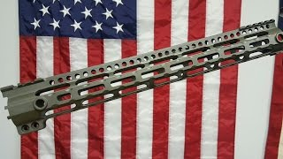 "Midwest Industries AR15 Lightweight 15"" free float handguard Review & Install"