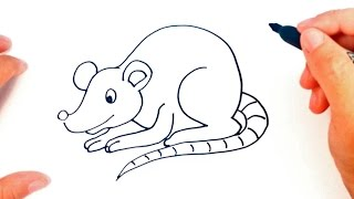 How to draw a Rat for kids | Rat Drawing Lesson Step by Step
