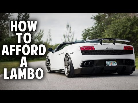 How to Afford a Lamborghini (without being a millionaire)