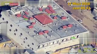 TSK, vurulduğu iddia edilen Afrin Hastanesi'nin bugünkü görüntüsünü paylaştı.