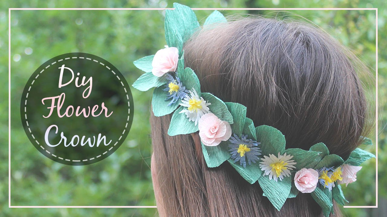 How To Make A Paper Flower Crown Youtube