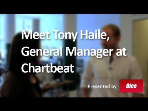 Meet Tony Haile, General Manager at Chartbeat - Best Job Ever with Veronica Belmont