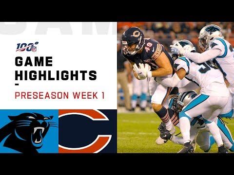 Panthers Vs. Bears Preseason Week 1 Highlights | NFL 2019