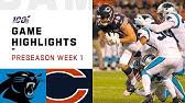 Panthers vs. Bears Preseason Week 1 HighlightsNFL 2019