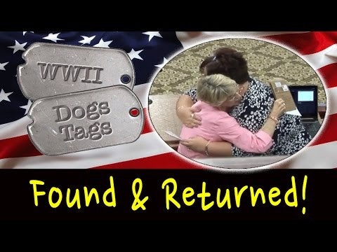 WW2 Dog Tags Found & Returned!