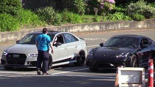 Porsche 718 Cayman vs RS3 Audi - drag race