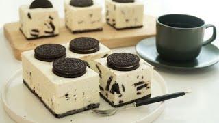노오븐 오레오 레어 치즈케이크 만들기 #홈베이킹#노오븐
