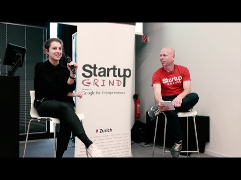 Lea Miggiano (Carvolution) at Startup Grind Zurich, w/ David