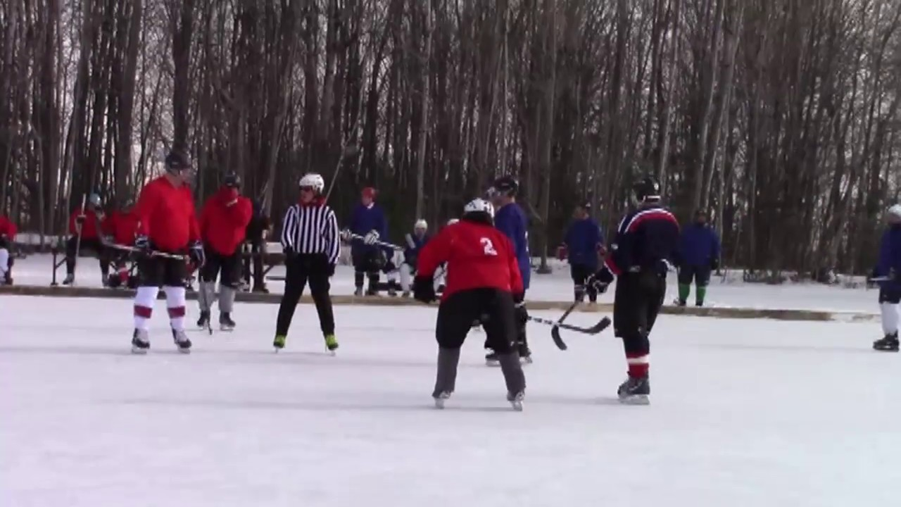 Mahoney Pond Hockey part one  2-3-18