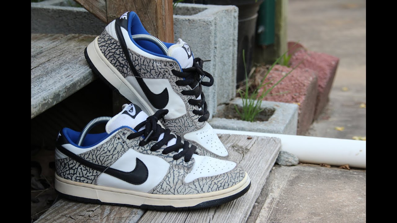 low priced 41015 1566b ... canada 2002 supreme nike dunk low sb white cement unboxin 91b3b e7466