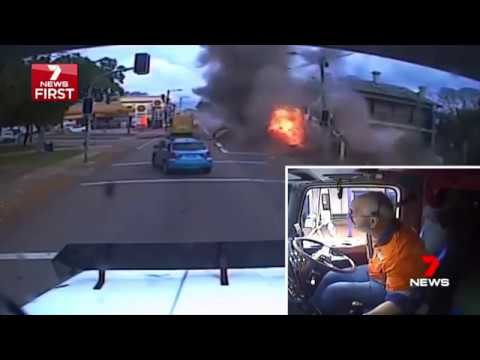 7 News Story - Stolen truck crash in Singleton NSW