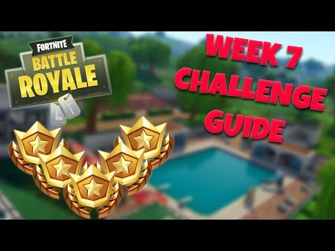 HOW TO COMPLETE ALL WEEK 7 CHALLENGES – SEASON 5 | FORTNITE BATTLE ROYALE TIPS/TUTORIALS