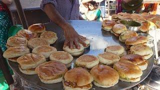 SUPER FAST Cooking Skills   FASTEST DABELI MAKER   Kacchi Dabeli - Indian Street Food