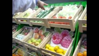 Торговые стеллажи для овощей. Новое в торговле. // Олег Карп