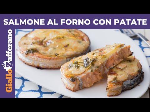 Ricetta Salmone Giallo Zafferano.Salmone Al Forno Con Patate Ricetta Facile E Veloce Youtube