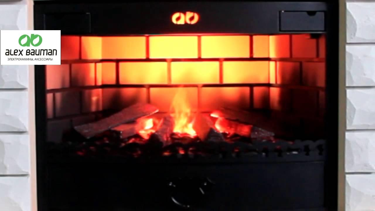 Электрокамины с эффектом живого огня ютуб электрические печи - камины во владимире