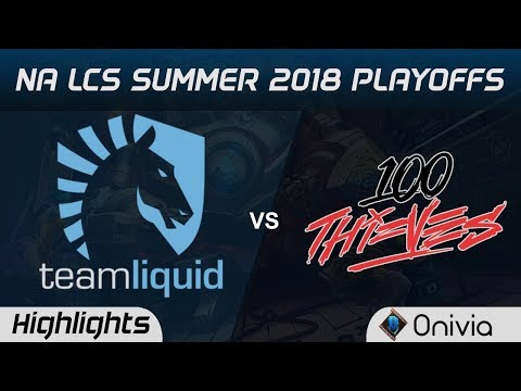 TL vs 100 Highlights Game 1 NA LCS Summer Playoffs 2018 Team Liquid vs 100 Thieves by Onivia