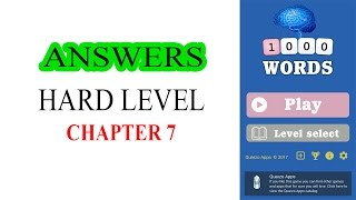 1000 WORDS GAME HARD LEVEL CHAPTER 7