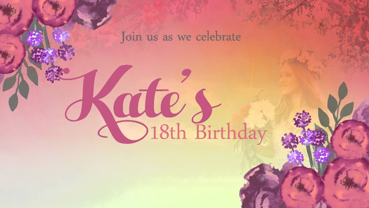 Animated Invites 18th Birthday Sample YouTube