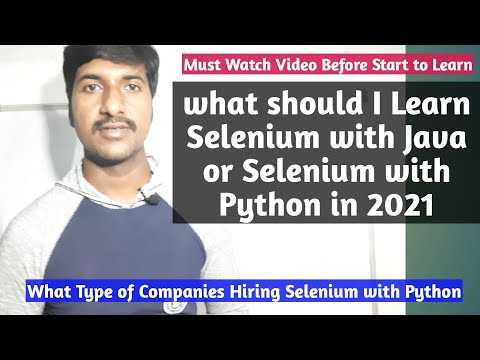 what should i learn selenium with java or selenium with python 2021