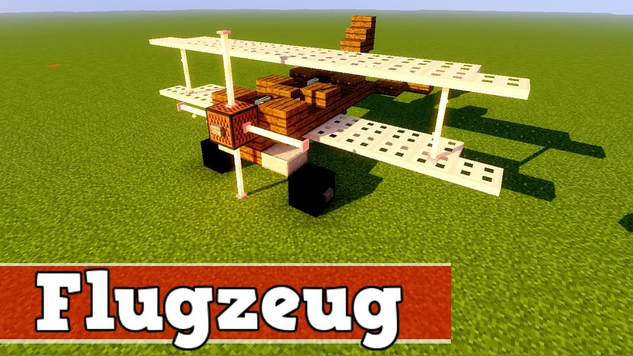 wie baut man ein flugzeug in minecraft minecraft flugzeug bauen deutsch youtube. Black Bedroom Furniture Sets. Home Design Ideas