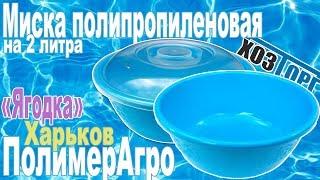 Обзор миска пластиковая «Ягодка» 2 литра (ПолимерАгро)