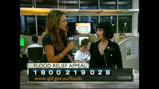 Jessica (from The Veronicas) at the QLD Flood Relief Appeal