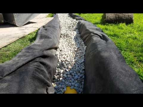 DO NOT HIRE a Contractor Using a Trencher to Install a FRENCH DRAIN SYSTEM in MIchigan