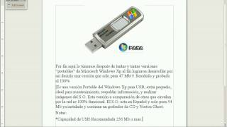 Portable Windows XP Live USB Edition[ESPANOL]