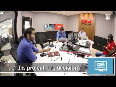 Felipe Dib na CBN 5: recuperando do acidente e gravando aulas!