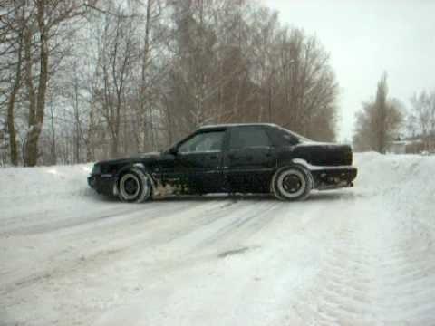 Audi V8 And Audi A6 Snow Drift Youtube