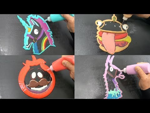 Fortnite Pancake Art - Rainbow Smash, Durr Burger, Loot Llama, Tomato Head