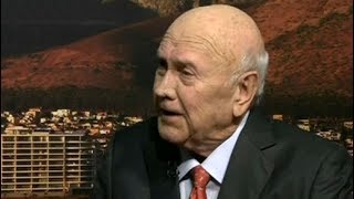 Former President FW de Klerk on unbanning of political parties and Mandela's release