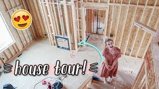 WALKING THROUGH OUR NEW HOUSE! HOME BUILDING UPDATE