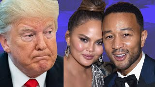 """Donald Trump Disses John Legend & His """"Filthy Mouth Wife"""" Chrissy Tiegen On Twitter