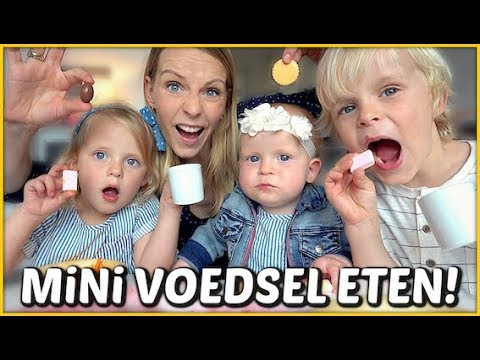 1 DAG ALLEEN MAAR MiNi VOEDSEL ETEN 😱 | Bellinga Familie Vloggers #1377