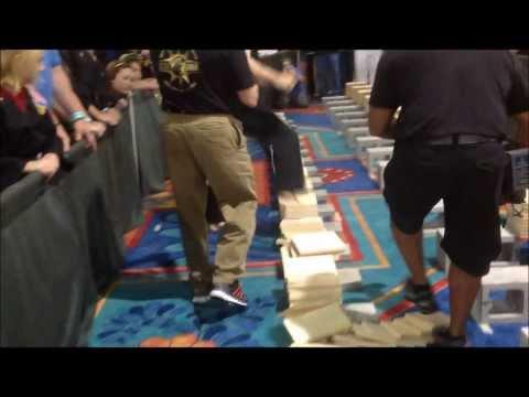 USBA/WBA World Record- Jonathan Field- 107 1″ boards with a stomp- 7/2013
