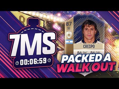 😱 FIFA 18 7 MINUTE SQUAD BUILDER!!! *WALKOUT PULL* ICON CRESPO!!!
