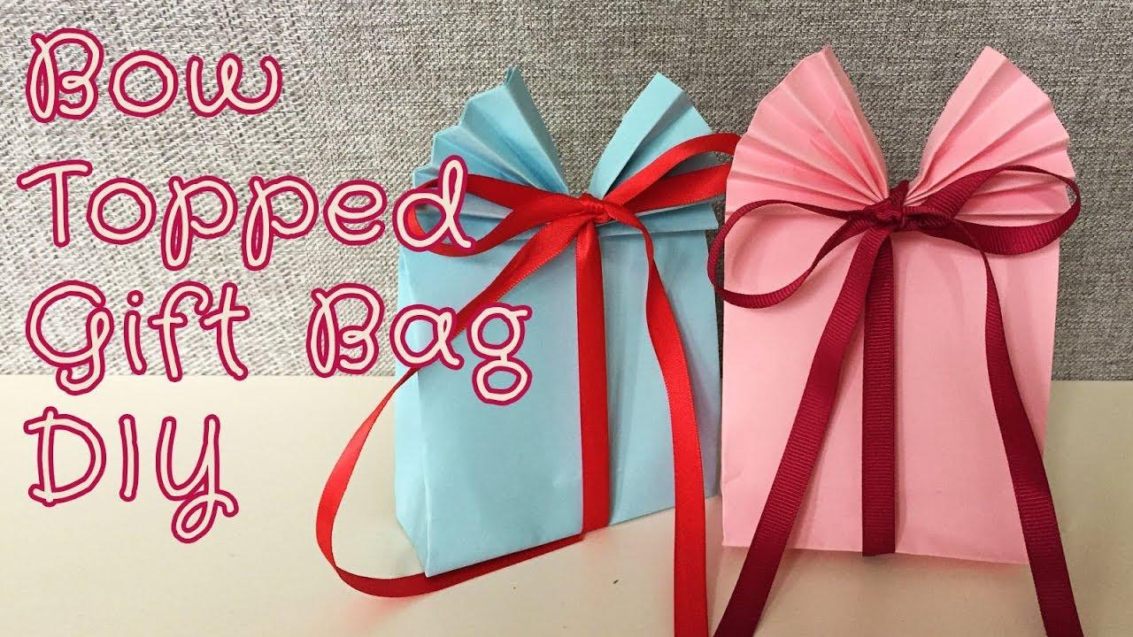 Easy Folded Bow Gift Bag DIY | Sunny DIY - YouTube