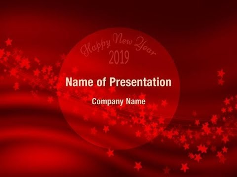 red new year card 2018 powerpoint template backgrounds digitalofficepro 00790