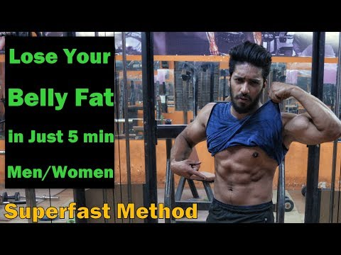 Lose You Belly Fat In Just 5 Minute (Men/Women) | 5 Exercise to Lose Belly Fat in 1 Week