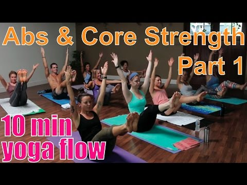 10 Minute Yoga Class - Abs and Core Strength Part 1