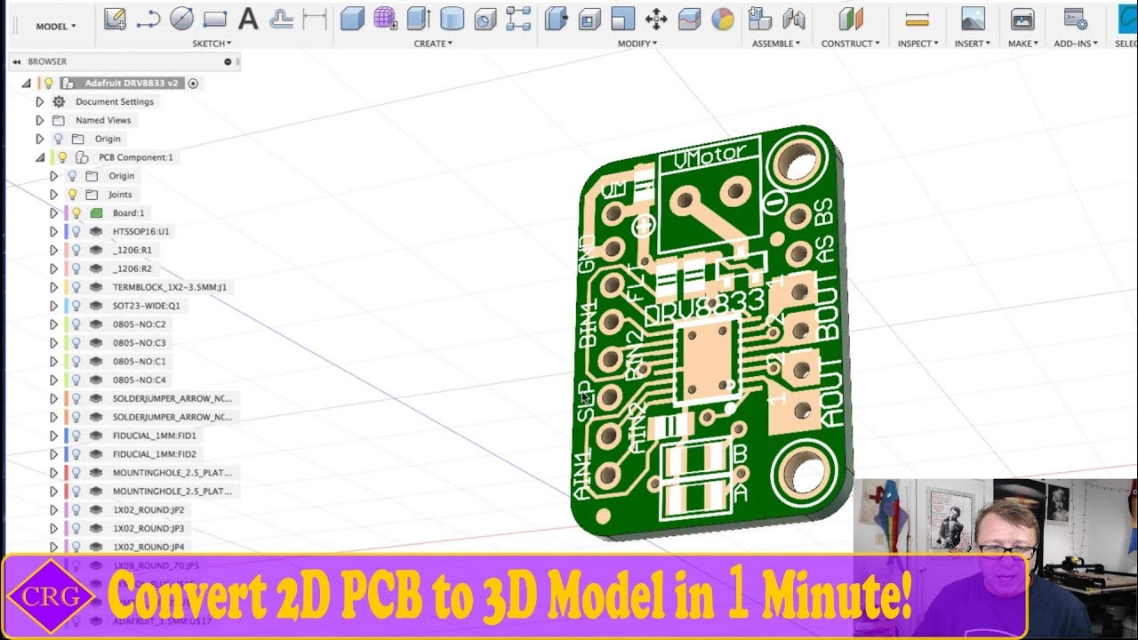 Turning an Eagle CAD PCB to Fusion 360 3D Model